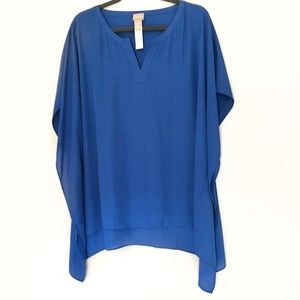 Chico's Royal Blue Flowy Tunic